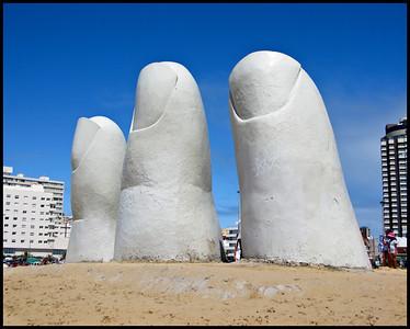 Hand sculpture, Punta del Este