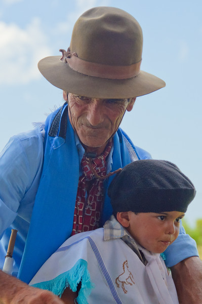 Gaucho Grandfather and grandson, Uruguay