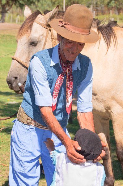 Gaucho Grandfather and grandson, Uruguay - You can feel the love between them.