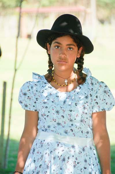 Gaucho Girl in traditional dress, Uruguay
