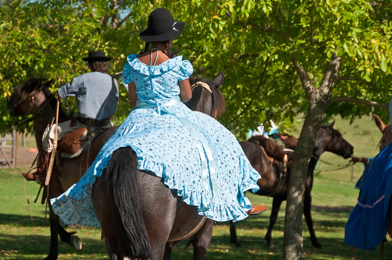 Gaucho Girl in traditional dress, Uruguay