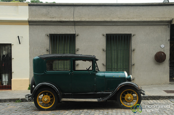 Classic Car in Colonia, Uruguay