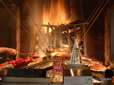 Meat and Vegetables on the Grill - Montevideo, Uruguay
