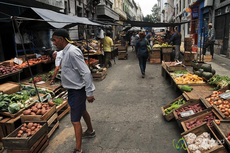 Fresh Market in Old Town Montevideo, Uruguay