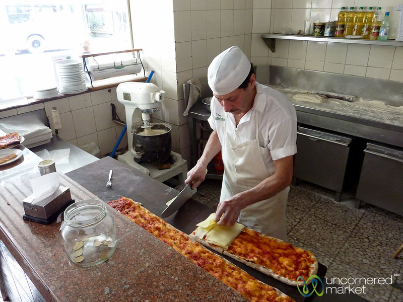 Time to Make the Pizza by the Meter - Montevideo, Uruguay