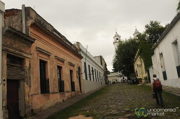 Audrey Walks the Streets of Colonia, Uruguay