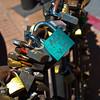 So many locks with initials!