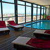 The penthouse spa overlooking the city at the Four Points Sheraton