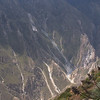 Colca Canyon. One of the world's deepest canyons, reaching a depth of 4,160 meters (13,640')
