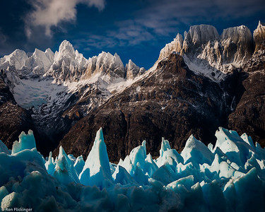Grey Glacier and Paine Massif