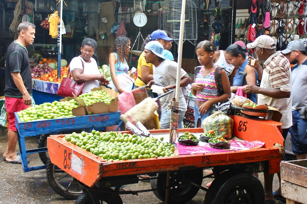 daily market activity at the Bazurto Market Cartagena Colombia