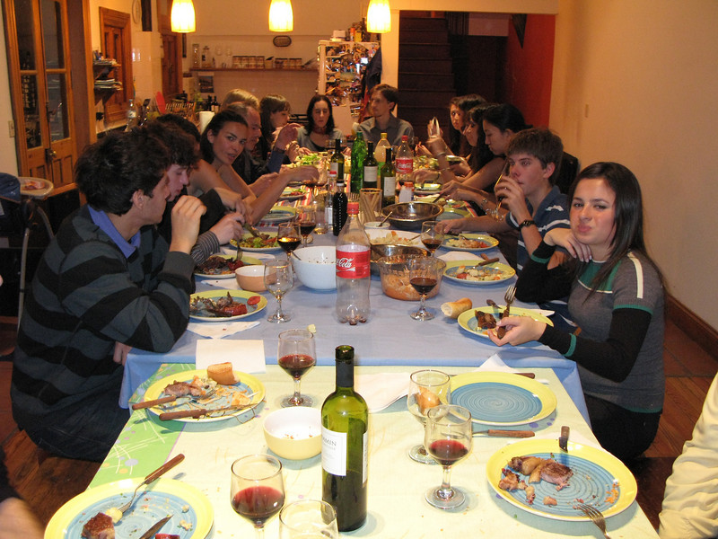 Dinner at a professor's house with other students from Academia Buenos Aires - Buenos Aires, Argentina