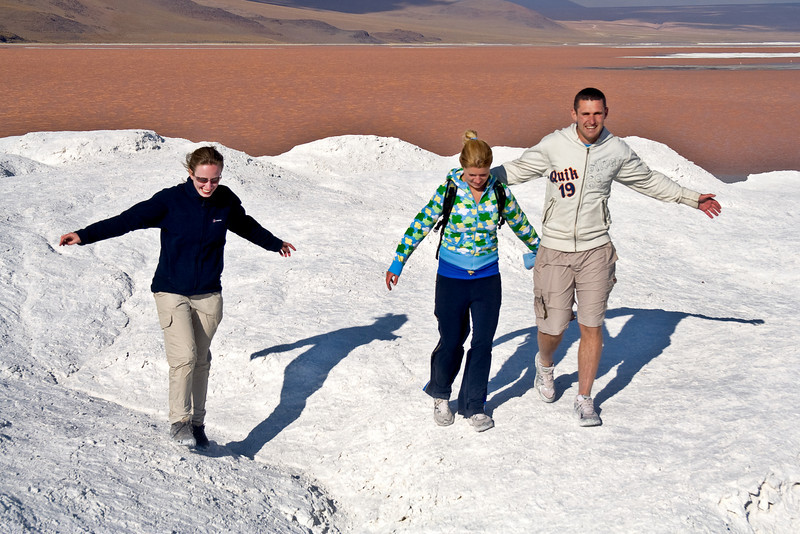 Emma, Rita, and Paul Enjoy the Borax Dunes