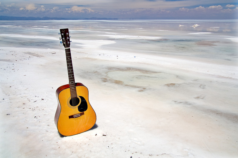 Guitar and Salt - Salar de Uyuni, Bolivia