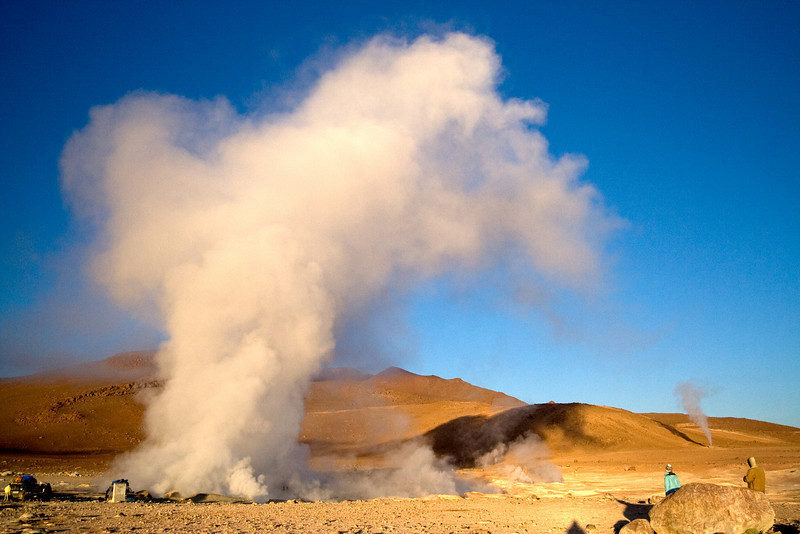 Volcanic Steam Vent at Sunrise<br /> <br /> The freezing environment at 4,500 m (14,700 ft) insures lots of steam from these volcanic vents.