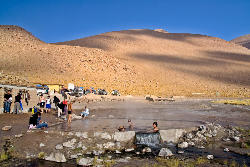 Natural Hot Springs - Bolivian Andes<br /> <br /> These natural hot springs above 4000 m are a welcome treat after several days stuck in a Land Cruiser. It's just like a hot tub.