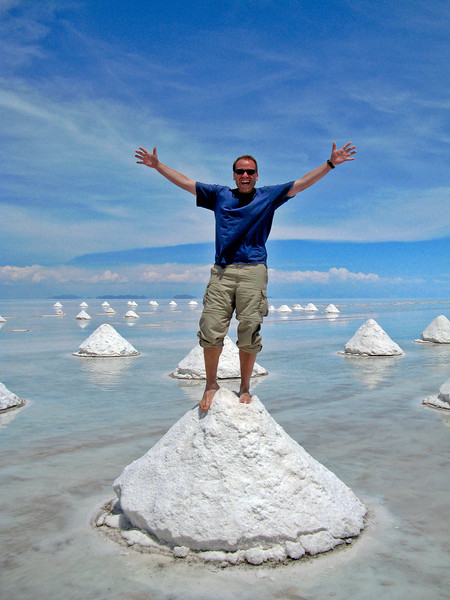 Got Salt?<br /> <br /> Dale standing atop 10,000 square km of salt!