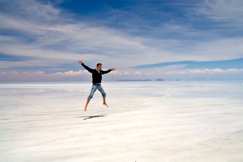 Salar de Uyuni, Bolivia<br /> <br /> There are very few visual references to help the brain, resulting in strange scenes and optical illusions.