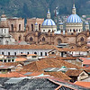 Cathedral and City Roofs - Cuenca, Ecuador