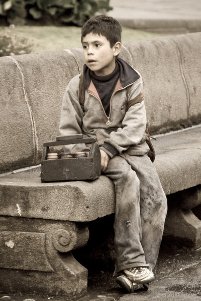 Shoeshine Boy - Quito, Ecuador