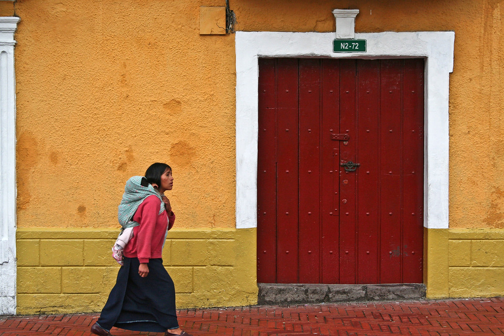 Indigenous Woman and Child - Quito, Ecuador