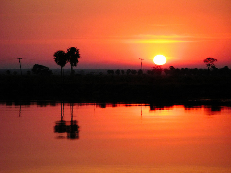 Sunset on the Rio Paraguay - Paraguay