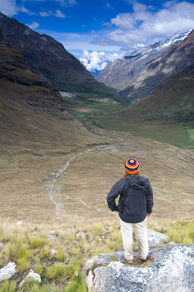 Nina taking in the view - Cordillera Blanca, Peru