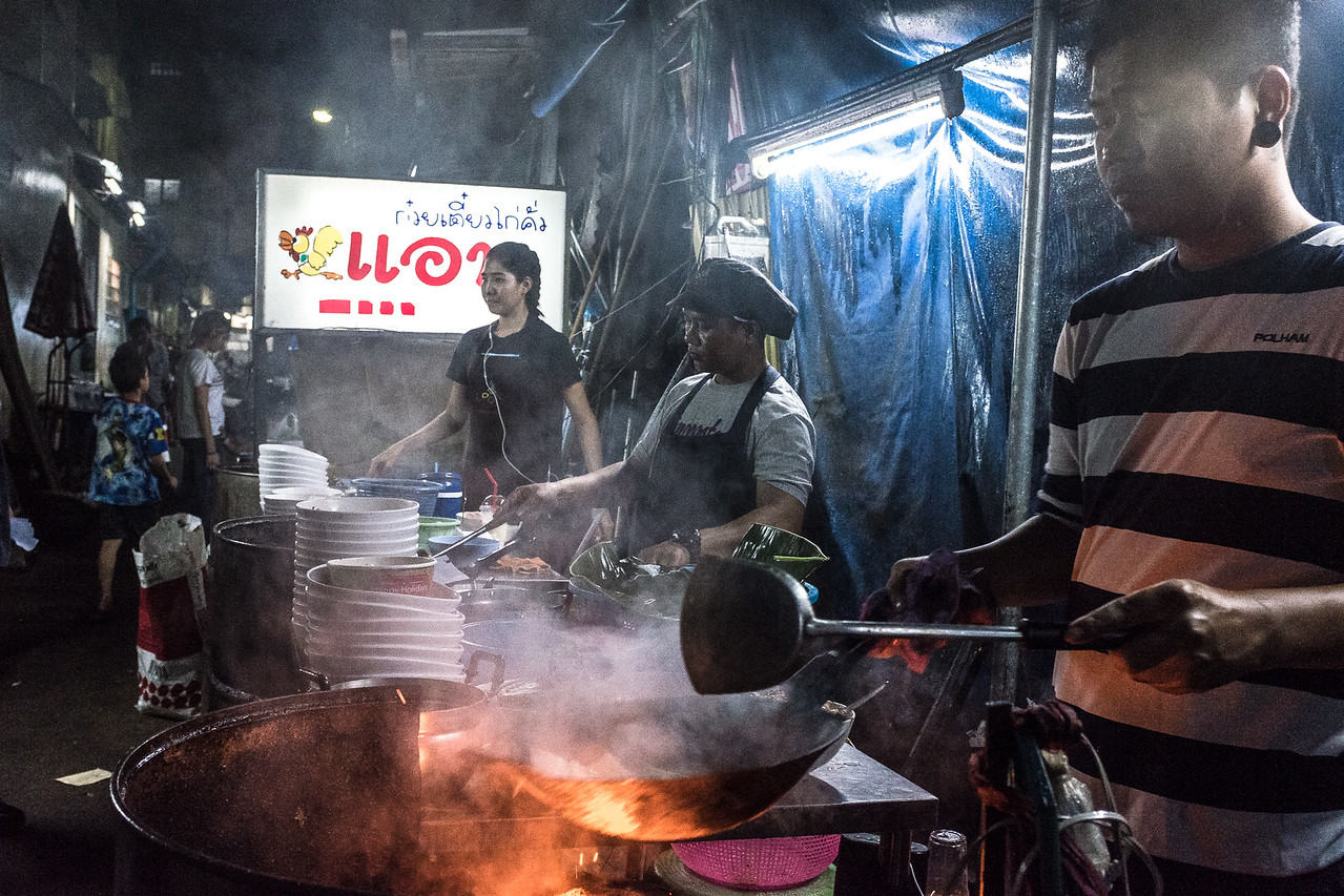 Bangkok Egg Noodle Vendor