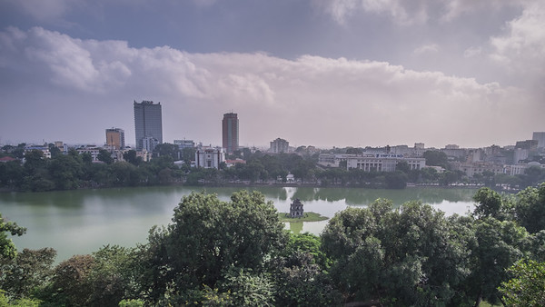 A view of Hoan Kiem Lake