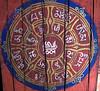 Ceiling motif, Paro Rinpung Dzong bridge