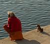 Boy and his dog, Varanasi