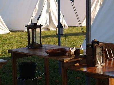 Morning encampment.