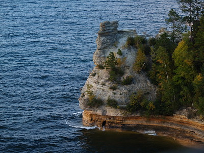 Miners Castle at sunset, Pictured Rocks National Lakeshore