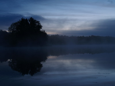 Just before sunrise on Swan Lake - we heard coyotes howling a couple of times.