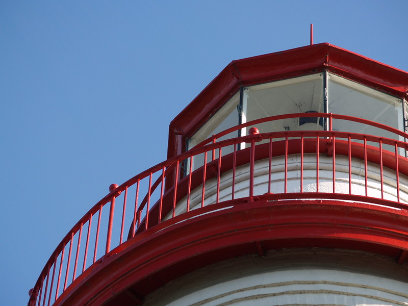 The top of Marblehead Lighthouse; Marblehead, Ohio