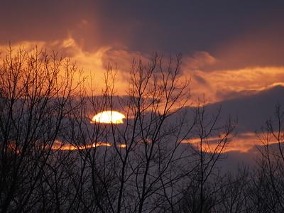 A beautiful vernal equinox sunset over Sheldon Marsh on Lake Erie.