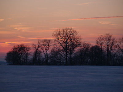 Last light in January  - south of Huron, Ohio (2010)