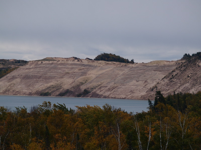 Grand Sable Sand Dunes; Pictured Rocks National Lakeshore - from the catwalk at the lighthouse