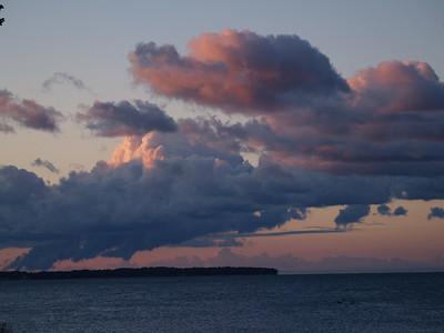 Clouds over Kelleys Island in September