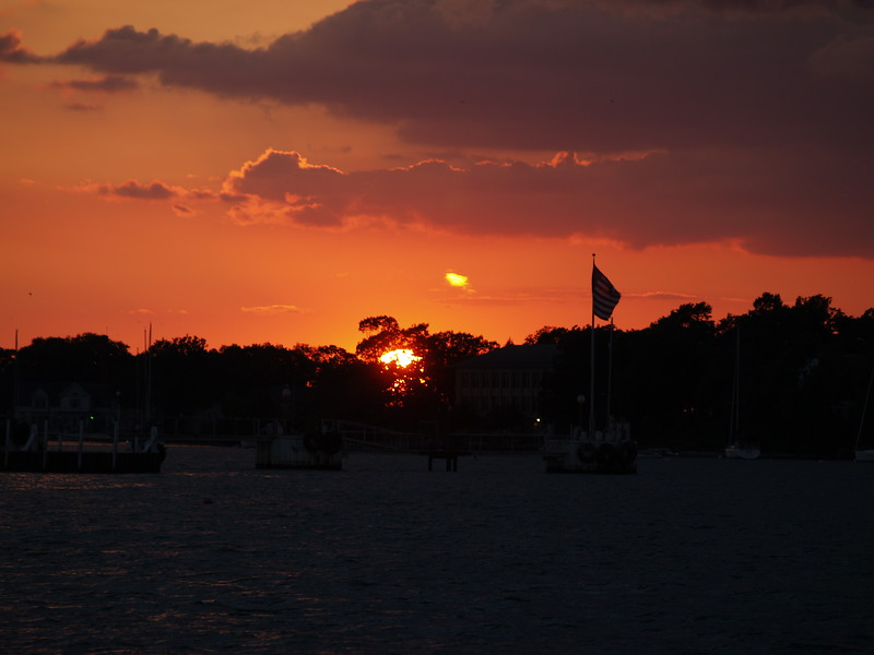 August sunset over Put-in-Bay