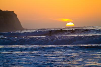 Sunset Surfers, Torrance Beach, CA