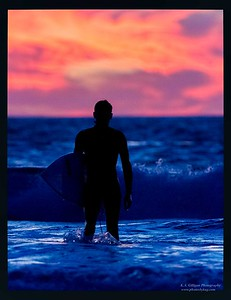 Sunset Surfer Torrance Beach-2