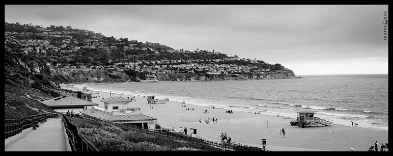 Torrance Beach, Black and White Panorama