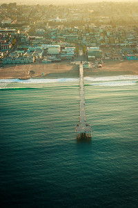 Aerial Photograph of the Hermosa Beach Pier