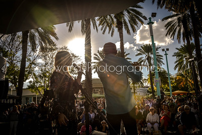 Maria Rivas & Nestor Torres Jamming Out Under The south Florida Sunset...