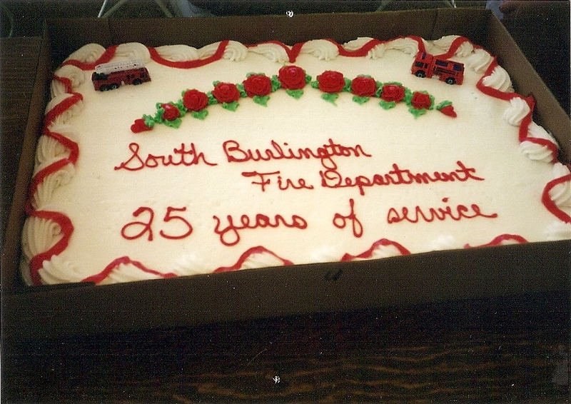 South Burlington Fire Department Scanned Image of 25th Anniversary