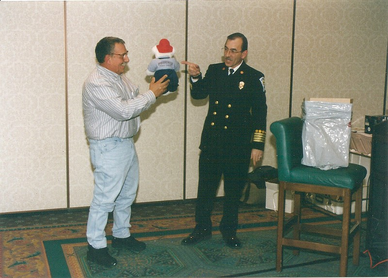 South Burlington Fire Department Scanned Image of Phoenix Fire Chief Alan Brunicini at local speaking event, unknown date
