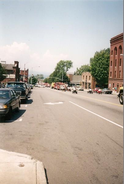 South Burlington Fire Department Scanned Image of Parade in Burlington Vermont, unknown date