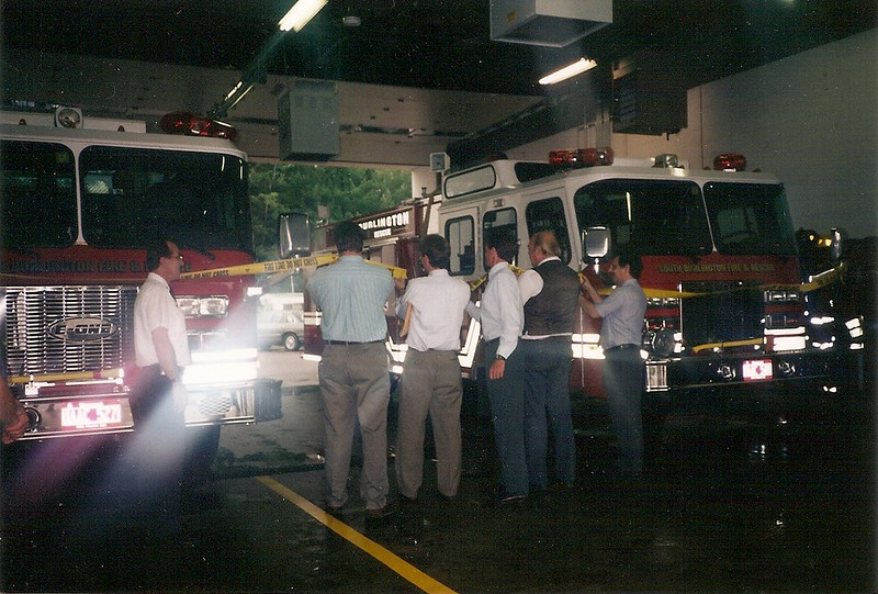 South Burlington Fire Department Scanned Image of Placing new Apparatus in-service. South Burlington Vermont, 1996