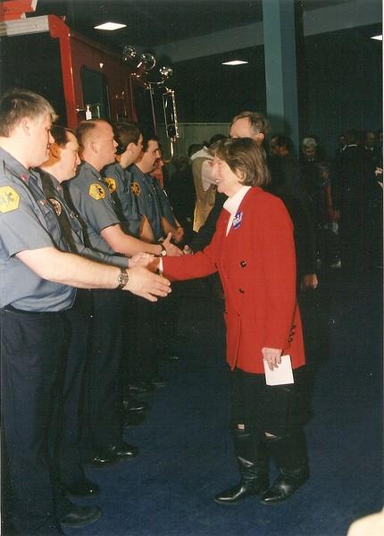 South Burlington Fire Department Scanned Image of Visit by Senator Bob Dole, date unknown